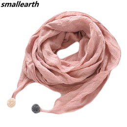 Baby Shawl Wholesale Australia - Children Scarves Autumn Winter Baby Cotton Linen Scarf Boys Girls Pure Color Warm Collar Kids New Spring Child Neck Scarf Shawl