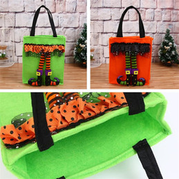 style weave 2019 - 2018 new style Halloween Non-woven bags ghost candy Bag Pumpkin Bag Halloween decorations props handbagT5I047 discount s