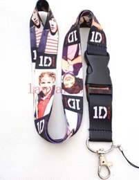 led cards 2019 - Free shipping A great music combination, 1D lanyard 10pcs key chain cell phone ipod charm neck strap lanyard ID card