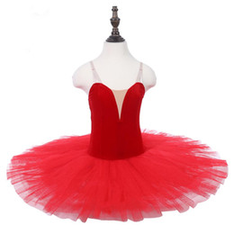 $enCountryForm.capitalKeyWord Australia - Red Professional Ballet Tutu royal blue velvet without decoration For Women White performance Show Stage Classical Tutu Costume Purple