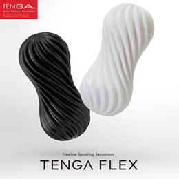 real vagina male masturbator UK - TENGA FLEX Flexible Spiraling stimulation penis Cup,Vagina Real Pussy Male Masturbator Cup Sex Toys for Men Sex Products D18110703