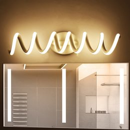 Wholesale Modern minimalist bedroom wall lamps w AC96V V LED Sconce black white lamp hall lighting decoration
