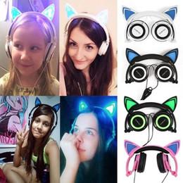$enCountryForm.capitalKeyWord Australia - Foldable Flashing Glowing Cute Cat Ear Headphones Gaming Headset Earphone with LED light For PC Laptop Computer Mobile Phone