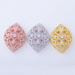 Micro Pave Connectors Australia - Wholesale Handmade DIY Jewelry Accessories Embellishments Findings Micro Pave Components Zircon Crystal Flower Pattern Connectors Charms Fit