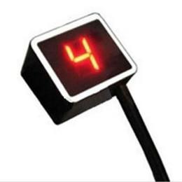 Levers Universal NZ - Freeshipping Red Light LED Universal Digital Gear Indicator Motorcycle Display Shift Lever Sensor