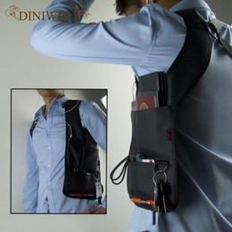 black folding phone 2019 - DINIWELL Travel Anti-Theft Hidden Underarm Shoulder Storage Bag Phone Holster Black Nylon Inspector Sports Organizer Bag