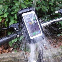 Zs motos suporte do telefone da motocicleta para samsung galaxy s7 s6 s8 edge5 g530 a5 a7 j5 apoio suporte da bicicleta móvel estande saco à prova d 'água
