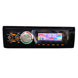 Remote Control Car Stereo Australia - 1 DIN in-dash car fm radio stereo bluetooth handfree mp3 music player with mobile phone remote control