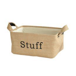 Chinese  Jute Storage Bin Toy Basket Organizer with Handles for Bookshelf Cabinet Kids Room Playroom manufacturers