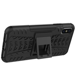 tyre case UK - 2018 New Arrival For iphone 7 case Rugged Tyre Armor Phone Case Hybrid PC+TPU Heavy Duty ShockProof Bracket phone Cover
