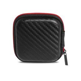 Wholesale 500Pcs Lot Universal Zipper Earphone Storage Box Portable Headphone Case Earbuds Hard Case Carrying Pouch Earphone Organizor