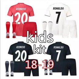 2f55f3798 2018 2019 Real Madrid Kids soccer jersey kit 18 19 RONALDO BENZEMA ISCO BALE  ASENSIO MODRIC youth jerseys home child Football shirt uniforms