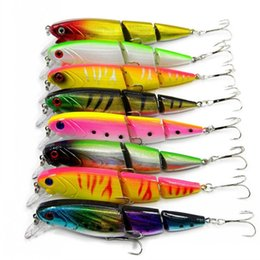 5-Segement 16.5cm//38g Pike Lure With Mouth Swimbait Fishing Bait Lure Tackle New