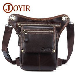 JOYIR Genuine Leather Shoulder Bags for Men Vintage Cowhide Waist Bag  Messenger Bag Men Leather Crossbody Hasp Male Belt Bag6369 c513f63f89