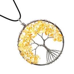 $enCountryForm.capitalKeyWord UK - Women Wire Wrap Natural Stone Wisdom Tree Necklace Hollow Rock Crystal Tree Pendant Chain