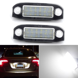 Volvo License Plates NZ - 2pcs White LED License Number Plate Light Bulb For Volvo C30 C70 S80 V70 XC70 S40 V50 S60 V60 XC60 XC90 license plate lamp