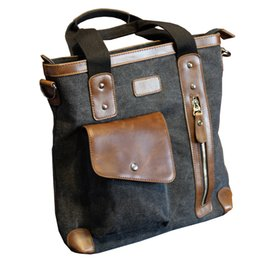 7b236e362a 10 Inch Ipad Men s bags canvas briefcases men s business handbags business  travel men s bags leisure large capacity computer bag