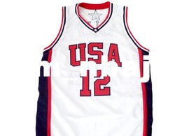 a57ed49af2d4 wholesale Ray Allen  12 Team USA New Basketball Jersey White Stitched  Custom any number name MEN WOMEN YOUTH BASKETBALL JERSEYS