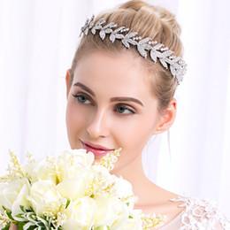 $enCountryForm.capitalKeyWord UK - Luxury Rhinestone Flower Headpiece Wedding Hair Accessories Special Occasion Headbands Bridal Headband Tiara Bridal Crown Headband