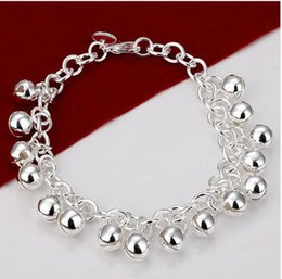 sterling silver bells NZ - Fine 925 Sterling Silver Bracelet for Women Men,Fashion 925 Silver 6mm Bell Chain 8inch Bracelet Italy New Arrival Xmas Best Gfit AH056