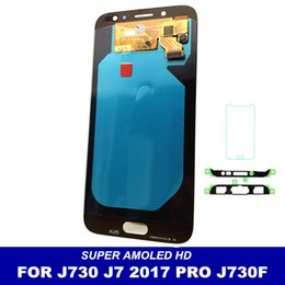 Samsung Galaxy Lcd Replacement Canada - LCD Replacement For Samsung Galaxy J7 Pro 2017 J730 J730F LCDs Screen Display Touch Digitizer Assembly Brightness Adjustment free shipping