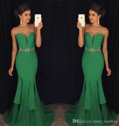 Holiday Evening Gowns Floor Length NZ - 2017 Fashion Mermaid Sweetheart Evening Dress Crystal Sash Floor-length Long Formal Holiday Wear Prom Party Gown Custom Made Plus Size