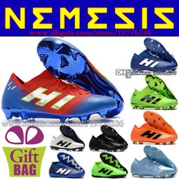 c23700ab3b9 Original Indoor Mens Soccer Shoes Turf Nemeziz Tango 18.3 IN TF Football  Boots For Cheap Soccer Cleats Messi Football Shoes Size 39-46