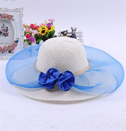 $enCountryForm.capitalKeyWord NZ - 2016 Hot Spring Summer Straw Hats Women Sun Millinery Beach Hat Large Brimmed Sun Hat Anti UV Tourism Veil Flower