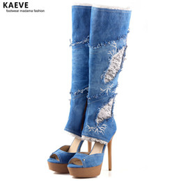 1596eb6e774 Denim Boots Knee High Canada | Best Selling Denim Boots Knee High ...