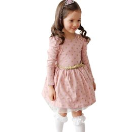 $enCountryForm.capitalKeyWord Canada - Brand Toddler Girls Autumn Winter Party Dress Kids Long Sleeve Spot Polka Dots Dresses Girls School Dress Baby Boutique Clothing