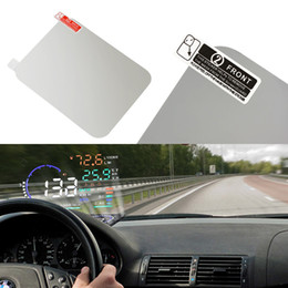 Head Hud online shopping - 120 mm Car HUD Film reflective film Hot Car Styling OBD II Fuel Consumption Overspeed Display Vehicle mounted Head Up Display System