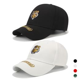 6992029d159 Popular Embroidery Cool Tiger Hats Outdoor Sports Visor Baseball Cap For Men  Women Hip Hop Dance Breathable Caps 13 5nk Z