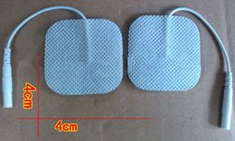 Digital Therapy Machine Slim Massager NZ - Free Shipping 30pcs lot(15 pairs) 4*4cm Tens Electrode Pads for Slimming Massage Digital Therapy Machine Massager