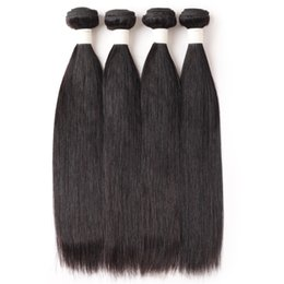 Cheap straight weft remy hair online shopping - Ishow Human Hair A Brazilian Hair Straight Bundles Cheap Unprocessed Remy Human Hair Weave Extensions Natural Color