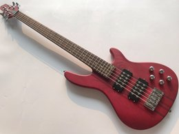 $enCountryForm.capitalKeyWord NZ - New High quality low price GYNT-0008 Red ASH wood Maple neck through 5 string Active Pickup Bass Guitar, Free shipping
