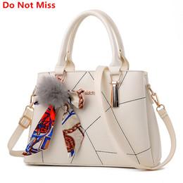 Multi Color Ladies Handbags Australia - New 2017 Sweet Lady Scarves Handbags Designers Fashion White Shoulder Bag High Quality PU Leather Totes for Female Messenger Bag