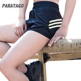 $enCountryForm.capitalKeyWord Canada - PARATAGO Women Sport Shorts Fake Two Anti-light Fitness Running Tights Shorts Quick Dry Yoga Workout PB902