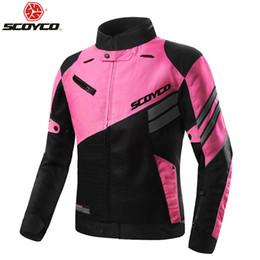 Summer Motorcycle Jackets NZ - 2018 Summer SCOYCO Women coat mesh Motorcycle riding suit Jackets knight Crash proof suit Motorbike reflector jacket ,JK36W