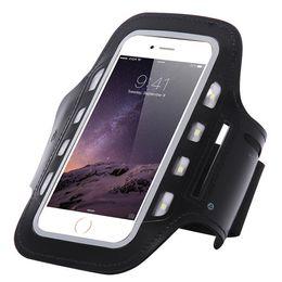 Nuevo brazo de la linterna de LED de los deportes al aire libre de 2018 IPhone6S con el brazo móvil del brazo del paquete del brazo de la noche de 5.5 pulgadas
