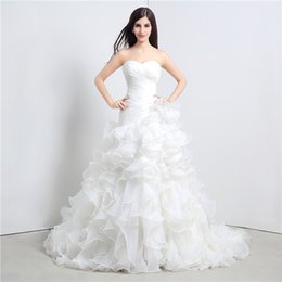 Wholesale tube tops wedding dresses for sale - Group buy 2020 New Arrivals Tube Top Wedding Dresses White Augen Head Fishtail Towel Lace Sweet Sweater Church Dresses DH73