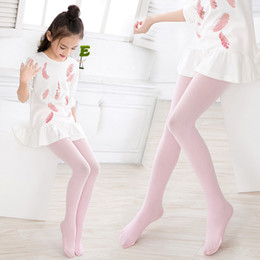 Girl Knees Leggings NZ - Children Leggings Dance Pants Socks 8 Color Kids Girls Thin High Elasticity Ballet Bottom Socks Wholesale Free Shipping B0221