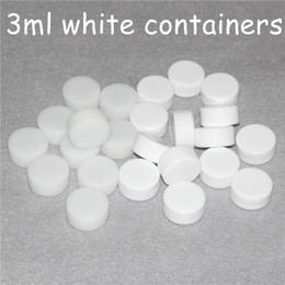 Silicone Toys Australia - Silicone Nonstick Wax Containers dab jar box Colorful white 3mL 5mL 7mL mini dab rigs Wax Jars Concentrate Case FDA approved e-cig box