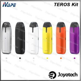 Eco pods online shopping - Joyetech TEROS Kit All in One Pod System Kit ml V mah Power by ECO with Color Changeable Fishes Air driven Pod Kit Original