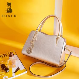$enCountryForm.capitalKeyWord NZ - FOXER Brand Women Leather Handbags Lady Shoulder Bag Simple & Luxury Crossbody Bags for Female Fashion High Quality Bags