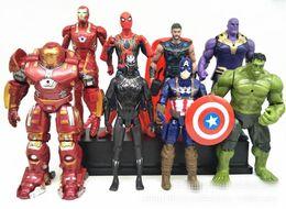 $enCountryForm.capitalKeyWord NZ - 14 Style Avengers 3 Infinity War Figure toys New Thanos Iron Man Captain America Hulk Thor Joint Movable Action Figure Toy MMA361