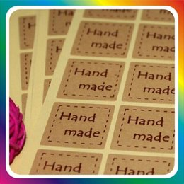Diy plant labels online shopping - Handmade Kraft Paper Sticker Outer Box Retro Paster Vintage DIY Label Stickers For Gift High Quality jh ff