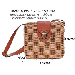 $enCountryForm.capitalKeyWord NZ - Summer bolso mimbre Candy Color Shoulder Bag Hand Made Exquisiteness Straw Bags Mini Woven Flap Sweet Pastoral Style Rattan Bag