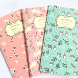 languages learning 2019 - Floral Blank Kraft Paper Notebook Recite Words Learn Foreign Language Planner Student School Office Supply cheap languag