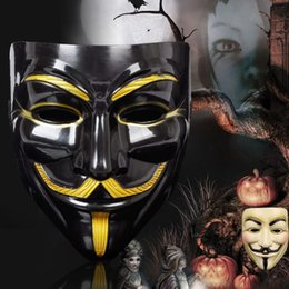 $enCountryForm.capitalKeyWord UK - Hot Selling Party Masks V for Vendetta Mask Anonymous Guy Fawkes Fancy Dress Adult Costume Accessory Party Cosplay Masks