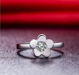 $enCountryForm.capitalKeyWord NZ - OEM Flower Designer 0.5CT Retro 925 Jewelry Ring For Engagement Sterling Silver Jewelry 18K White Gold Plate Customized Jewelry